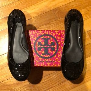 Tory Burch Patent Leather Reva Ballet Flats